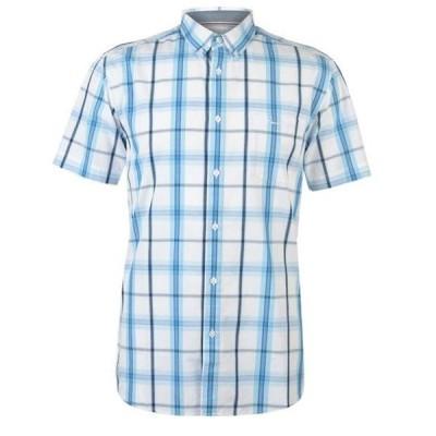 ピエールカルダン シャツ メンズ トップス Short Sleeve Check Button Shirt Mens