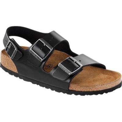 ビルケンシュトック Birkenstock レディース サンダル・ミュール シューズ・靴 Milano Amalfi Leather with Soft Footbed Black Amalfi Leather