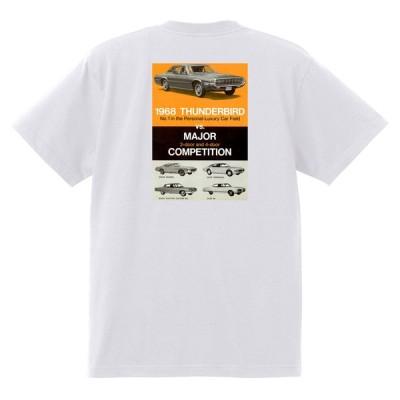 アドバタイジング フォード 757 白 Tシャツ 黒地へ変更可 1968 サンダーバード トリノ フェアレーン マスタング ランチェロ f150
