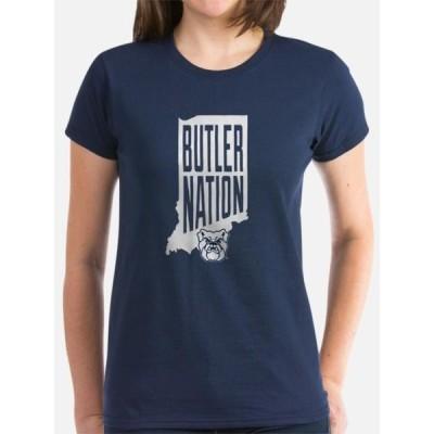 レディース スポーツリーグ アメリカ大学スポーツ CafePress - Butler Bulldogs Nation T-Shirt - Women's Dark T-Shirt Tシャツ