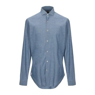 GUGLIELMINOTTI シャツ ブルー 39 コットン 100% シャツ