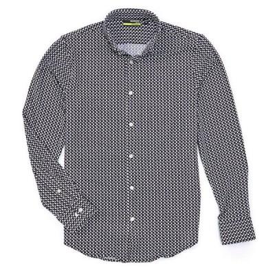 ムラノ メンズ シャツ トップス Slim-Fit Geo Print Performance Stretch RepreveR Long-Sleeve Woven Recycled Materials Shirt