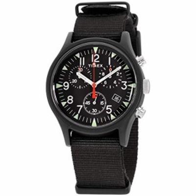 腕時計 タイメックス メンズ Timex Men's MK1 Aluminum Chronograph 40mm Analog Quartz Nylon Strap, Bl