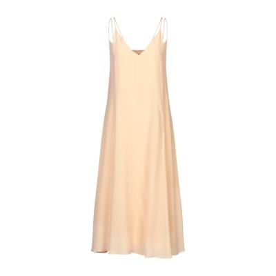 アリジ ALYSI 7分丈ワンピース・ドレス サーモンピンク 42 シルク 100% 7分丈ワンピース・ドレス