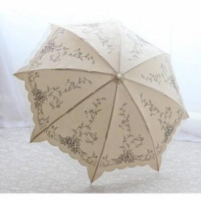 日傘 折りたたみ レディース レース 花柄刺繍 配色レース 配色刺繍 カッティング 花柄プリント スパンコール きらきら 日傘 折りたたみ