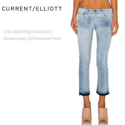 【SALE】【60%OFF】Current Elliott カレントエリオット THE CROPPED STRAIGHT Oceanspray w/Released Hem