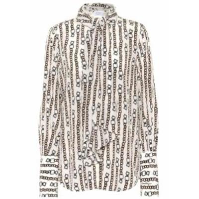 サルヴァトーレ フェラガモ Salvatore Ferragamo レディース ブラウス・シャツ トップス Printed silk blouse Fdo Ivory