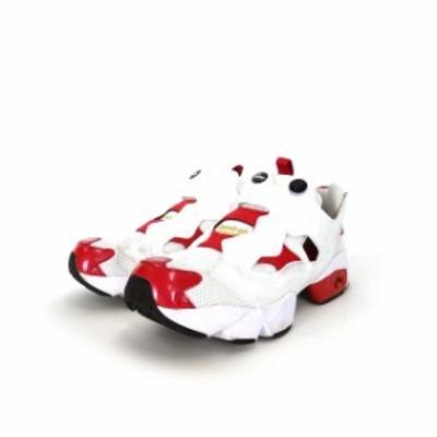 【中古】リーボック Reebok インスタポンプフューリー スニーカー 靴 US7 25.0cm ホワイト/レッド 赤 白 FV041 メンズ