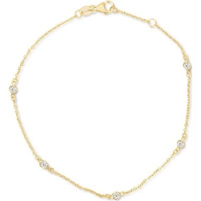 メイシーズ Macy's ユニセックス ブレスレット Diamond Bezel Chain Link Bracelet (1/6 ct. t.w.) in 14k White or Yellow Gold Yellow Gold