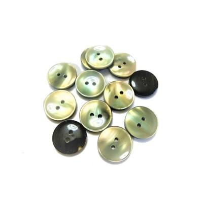 ボタン 手芸 素材 15mm グレー色系 2穴 ポリエステル系 ボタン 12個入り