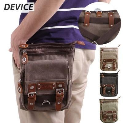 DEVICE メガ シザーケース 7インチタブレット対応 チョークバッグ シザーバッグ メンズブランド キャンバス バッグ