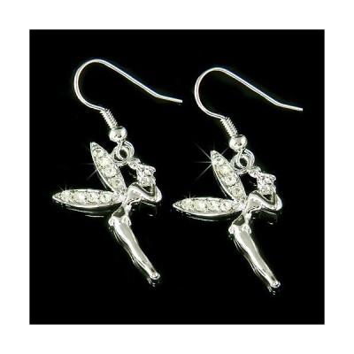 イヤリング インポート スワロフスキ クリスタル ジュエリー ~Tinkerbell~ made with Swarovski Crystal Tinker Fairy ANGEL PIXIE Wings Earrings