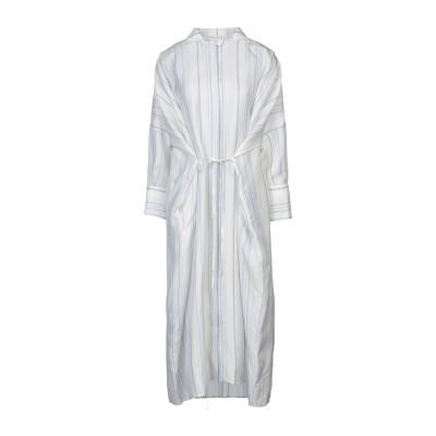 ジル サンダー JIL SANDER 7分丈ワンピース・ドレス ホワイト 34 レーヨン 100% 7分丈ワンピース・ドレス
