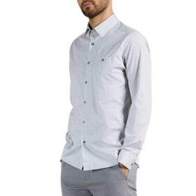テッドベーカー メンズ シャツ トップス Midspo Spot Geometric Print Shirt Navy
