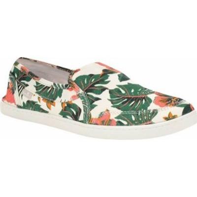 サヌーク レディース スニーカー シューズ Women's Sanuk Pair O Dice Floral Slip On Sneaker White Canvas