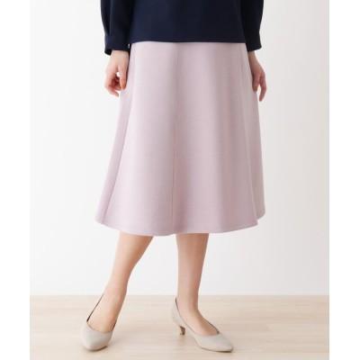 SHOO・LA・RUE/DRESKIP(シューラルー/ドレスキップ) ホイップクリームタッチ ダンボ-ルニット 切り替えフレアースカート
