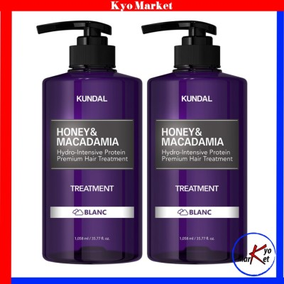 KUNDAL_大容量1058ml 1+1クンダル タンパク質ヘアトリートメント ブランの香り