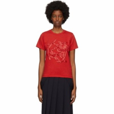 コム デ ギャルソン Comme des Garcons Girl レディース Tシャツ トップス Red Bow T-Shirt Red
