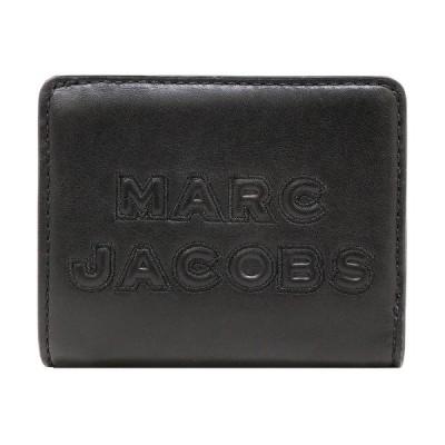 【ポイント10倍】マークジェイコブス MARC JACOBS 財布 二つ折り財布 M0015752 001 ロゴ アウトレット レディース ウォレット 新作