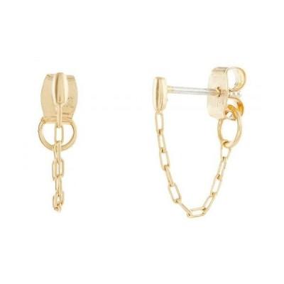 Madewell レディース 女性用 ジュエリー 宝飾品 イヤリング Bar Chain Hoop Earrings - Vintage Gold