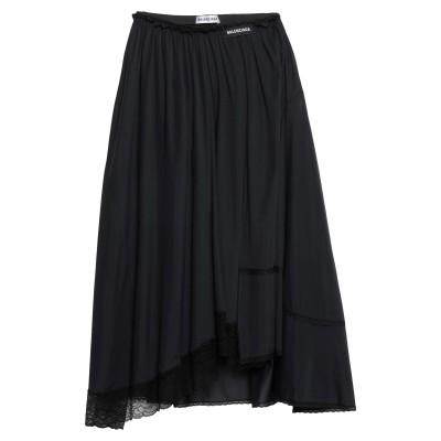 バレンシアガ BALENCIAGA ひざ丈スカート ブラック 40 ナイロン 90% / ポリウレタン 10% ひざ丈スカート