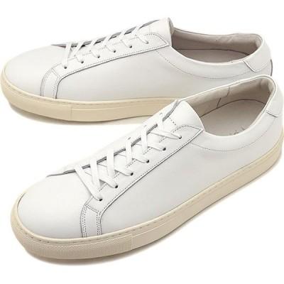 ヨーク YOAK メンズ スタンレー STANLEY レザースニーカー 日本製 靴 WHITE ホワイト系   SS19