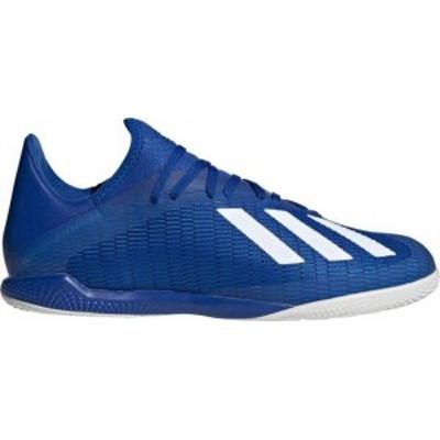 アディダス メンズ スニーカー シューズ adidas Men's X 19.3 Indoor Soccer Shoes Blue/White