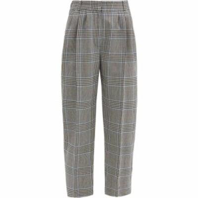 アレキサンダー マックイーン Alexander McQueen レディース クロップド ボトムス・パンツ Cropped glen-check wool-twill suit trousers