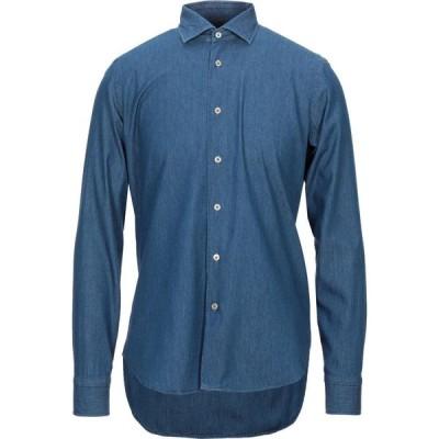 カリスト カンポラ CALLISTO CAMPORA メンズ シャツ デニム トップス Denim Shirt Blue