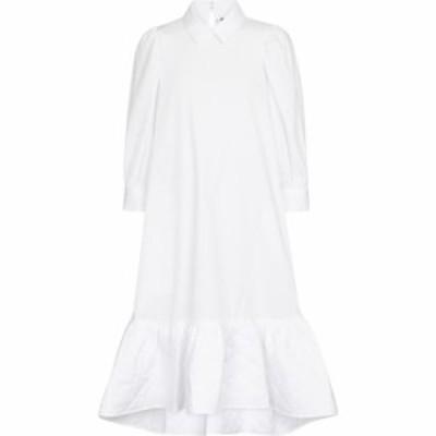 ノワール ケイ ニノミヤ Noir Kei Ninomiya レディース ワンピース ミドル丈 ワンピース・ドレス Cotton poplin midi dress White