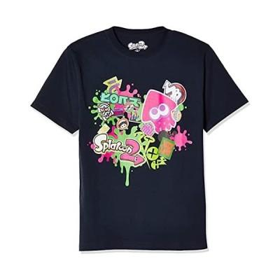 [スプラトゥーン] Tシャツ Splatoon2 スプラトゥーン2 半袖 ハイカラストリート 22823702 (ネイビー XL)