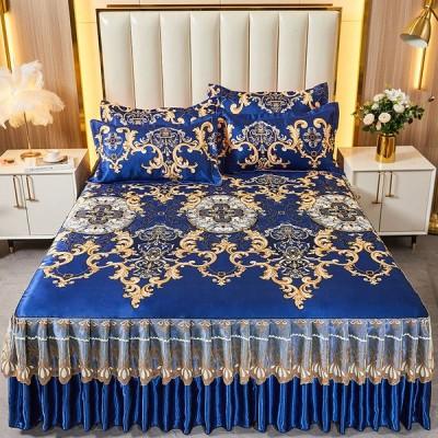 ベッドスカート ベッドカバー  ベッドスプレッド  マルチカバー シーツ  おしゃれ 簡単  シングル ダブル 上品 洗える
