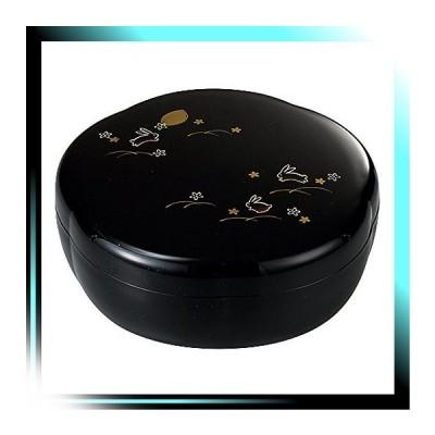 菓子器 梅型 夢うさぎ 梅型菓子器 黒 サイズ:約W18.5 D18.5 H8.5