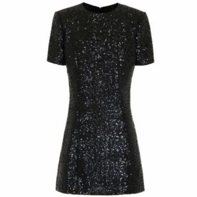 イヴ サンローラン Saint Laurent レディース パーティードレス ワンピース・ドレス Sequined minidress Noir