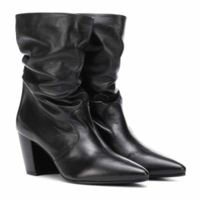 プラダ Prada レディース ブーツ ショートブーツ シューズ・靴 Slouched leather ankle boots Nero