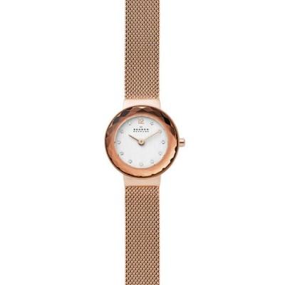 スカーゲン レディース 腕時計 アクセサリー Women's Leonora Rose Gold Tone Steel Mesh Watch