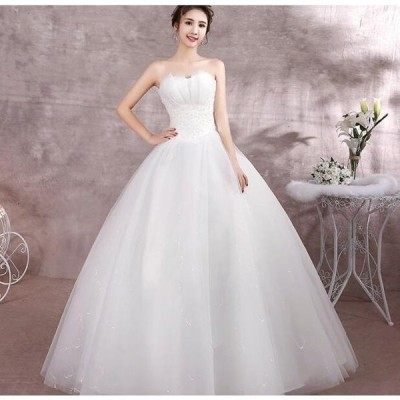 ウェディングドレス Aライン ドレス 安い ウエディングドレス 二次会 パーティードレス 花嫁ドレス 披露宴 ブライダル 結婚式 ロングドレス