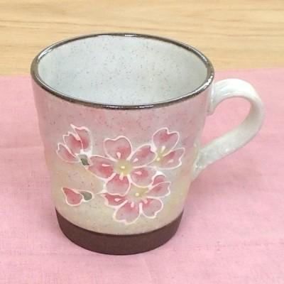 マグカップ 一珍桜 ピンク おしゃれ 和陶器 業務用 美濃焼 9d73424-578