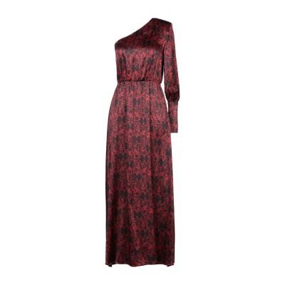 フェデリカ・トシ FEDERICA TOSI ロングワンピース&ドレス レッド 46 シルク 95% / ポリウレタン 5% ロングワンピース&ドレス