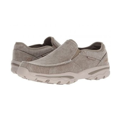 SKECHERS スケッチャーズ メンズ 男性用 シューズ 靴 ローファー Relaxed Fit: Creston - Moseco - Taupe