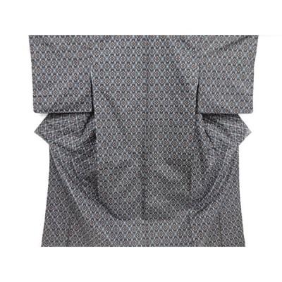 リサイクル 未使用品 幾何学模様織り出し本場村山大島紬着物アンサンブル