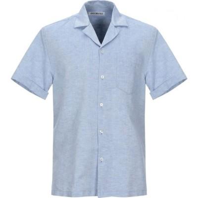 ビッケンバーグ BIKKEMBERGS メンズ シャツ トップス linen shirt Sky blue