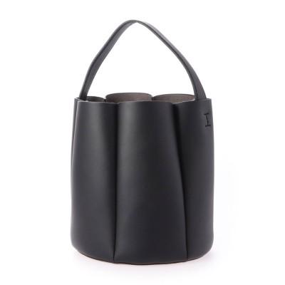 ミニア minia フラワーバケツショルダー(280743) (ブラック×ブラック巾着)