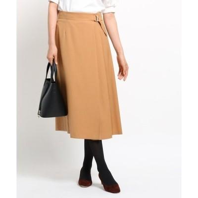 スカート [S]【ハンドウォッシュ】サイドバックルツイルラップスカート