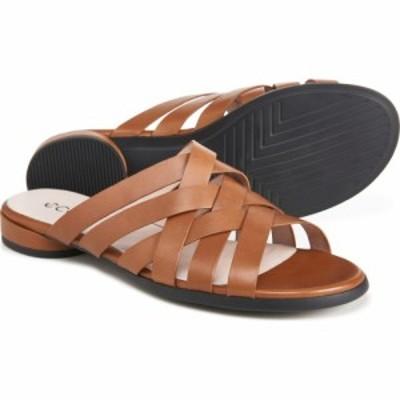 エコー ECCO レディース サンダル・ミュール フラット シューズ・靴 flat sandals - leather Camel