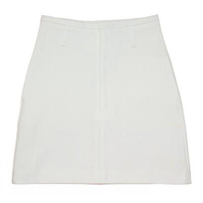 White Stretch Denim Skirt 67A