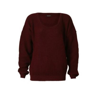 FashionMark レディース 厚手ニット バギースタイル オーバーサイズ プレーン ジャンパー セーター トップ US サイズ: One Siz
