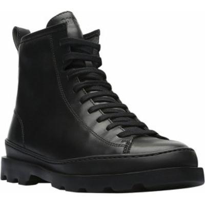 カンペール レディース ブーツ・レインブーツ シューズ Brutus Combat Boot Black Smooth Leather