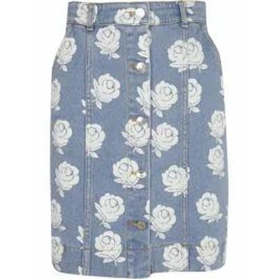 Kenzo レディーススカート Kenzo Floral Denim Skirt white