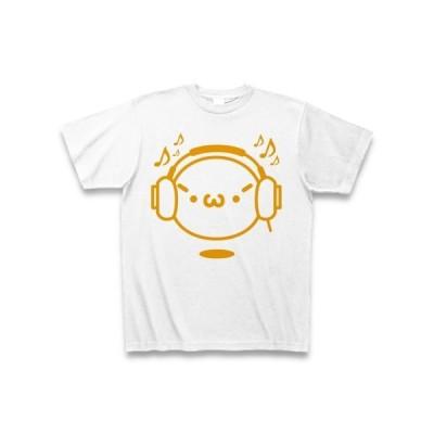 【音楽】シャキーンmusicバージョン2/オレンジ Tシャツ(ホワイト)